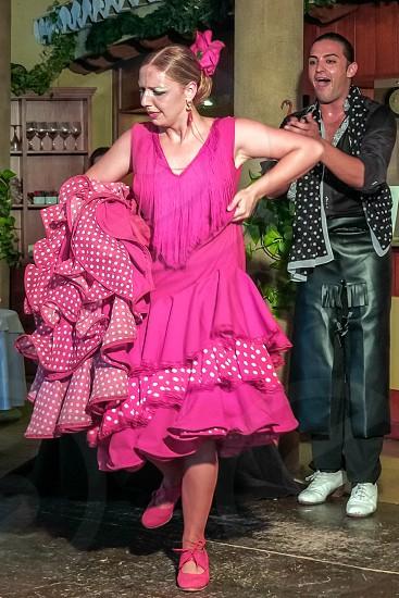 Flamenco Dancing in a Restaurant in Spain photo