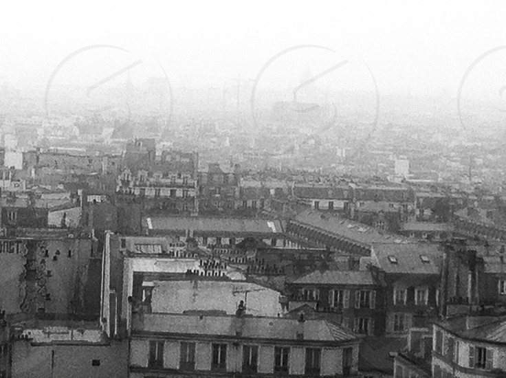 Paris Skyline from Montmartre in the Rain  photo