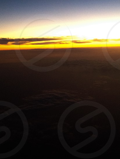 Beauty sunset on air photo