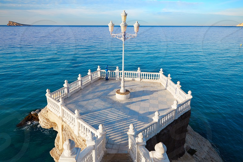 Benidorm Mirador del Castillo Mediterranean lookout point in Alicante Spain photo
