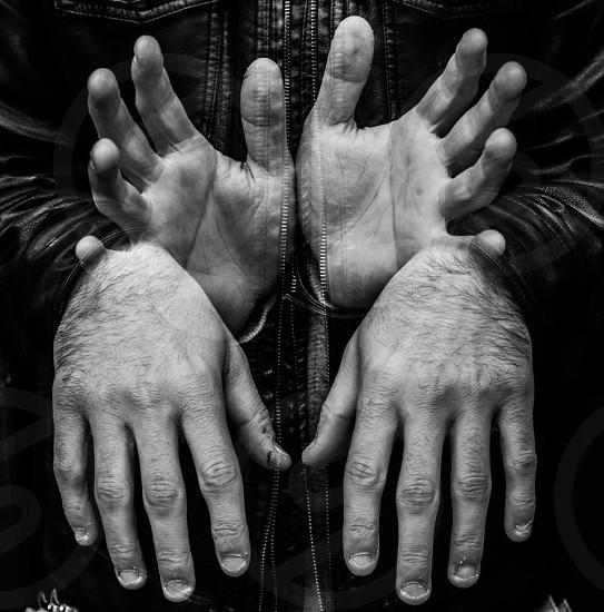 4 human hand grayscale photo photo