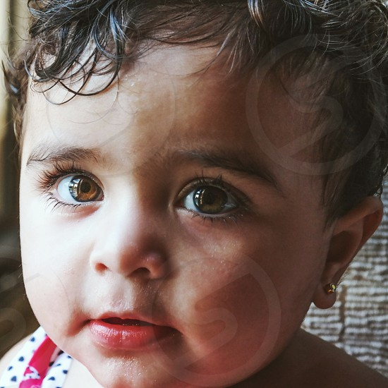A portrait of baby Sara photo