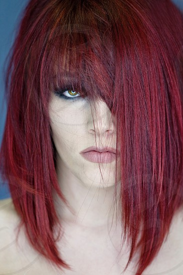 red haired woman photo