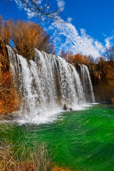 Cascada de San Pedro waterfall in Teruel Sierra Albarracin of Spain photo