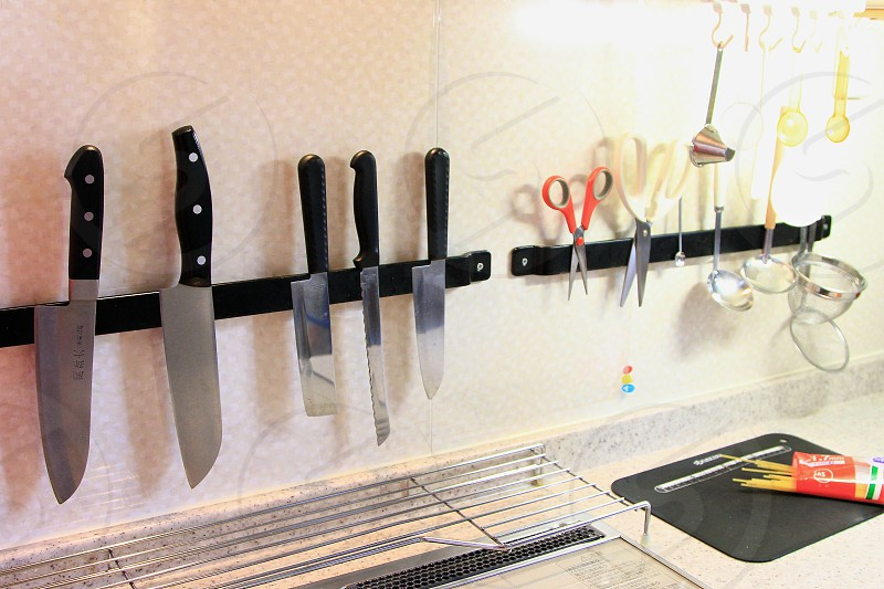 Simple low cost yet well organized kitchen space! photo