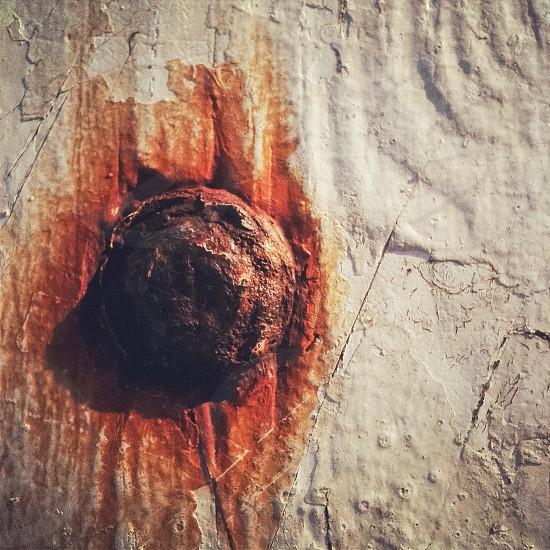 Rust white paint wood texture photo