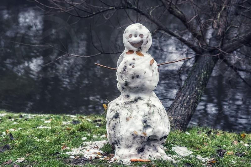 A Dutch snowman  photo