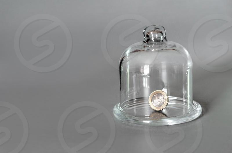 savings money rich glass euro coin cash banking save  photo