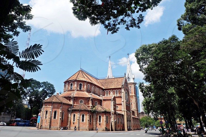 Saigon Notre Dame Cathedral the stronghold of catholicism in Ho Chi MinhVietnam.  photo