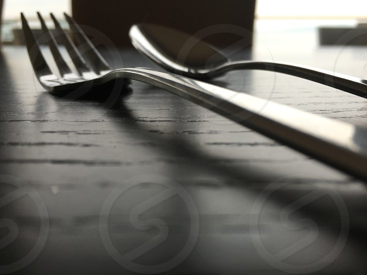 Macro fork and spoon dine photo