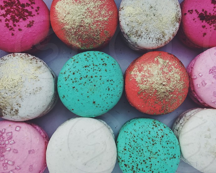 Macaron macarons french treat sweets sweet treat colourful patisserie tea time snack confectionary  photo