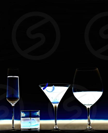 Negative space drinks photo