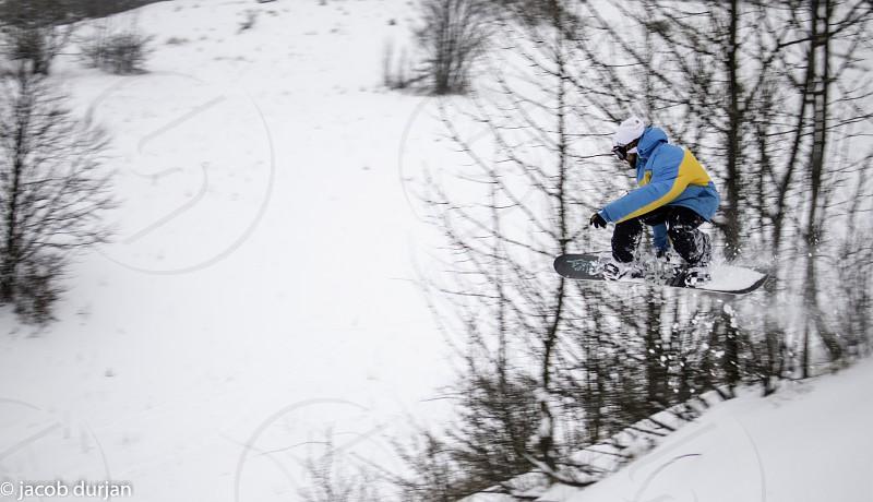 snowboarding at snow park donovaly photo