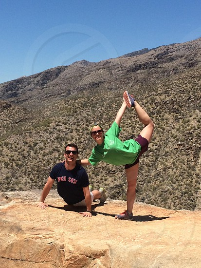 Yoga & hiking in Tuscon. photo