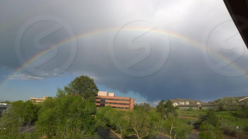 Full rainbow over Lakewood Colorado photo
