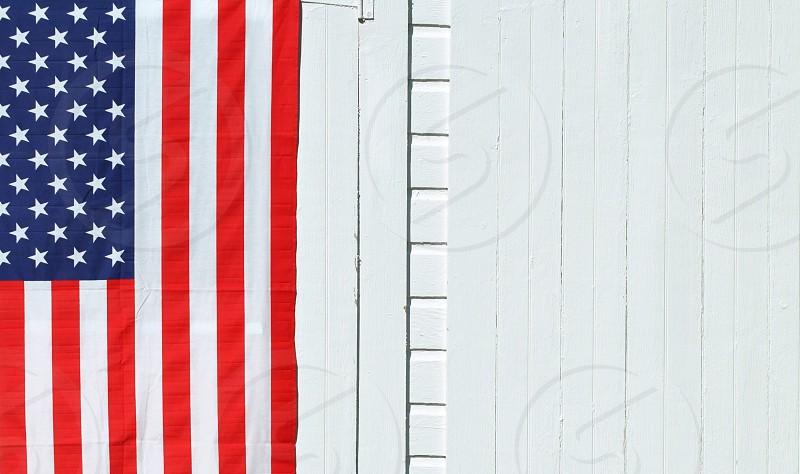 american flag on wall photo