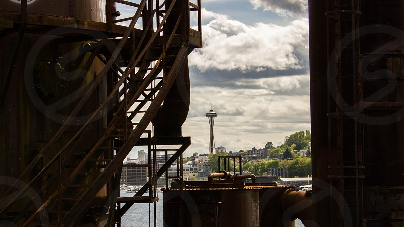 The beautiful space needle from gasworks park photo