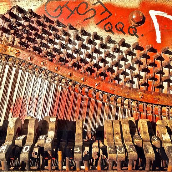 brown organ keys photo