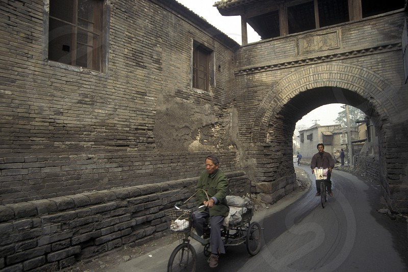 the old town in the city of beijing in the east of china in east asia.  photo