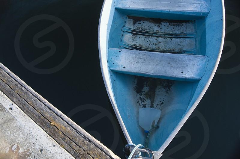 Semi-abandoned boat on Vashon island. photo