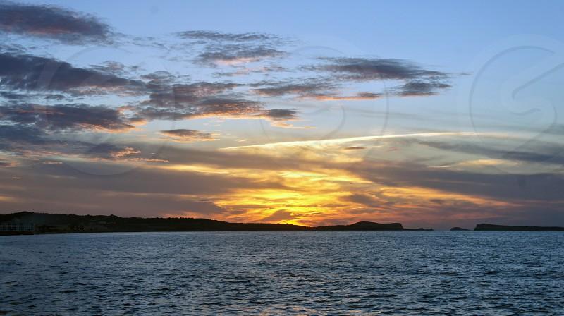 Sunset San Antonio Ibiza Spain photo