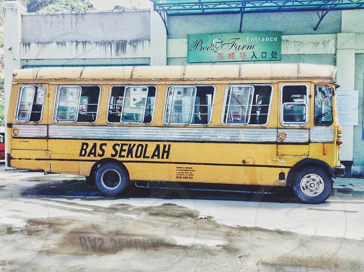 Travel in Malaysia in This Old SchoolBus  photo