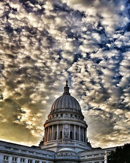 #capital #city #Madison #wisconsin #fall #sky #awesome photo