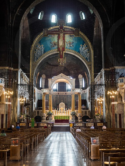 Interior view of Westminster Cathedral photo