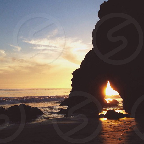 rock formation silhouette  photo