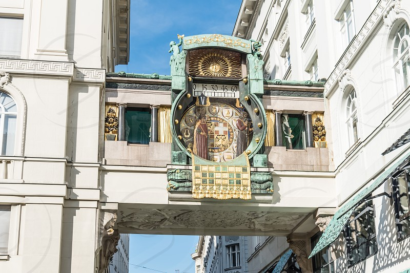 The Ankeruhr clock in Vienna photo
