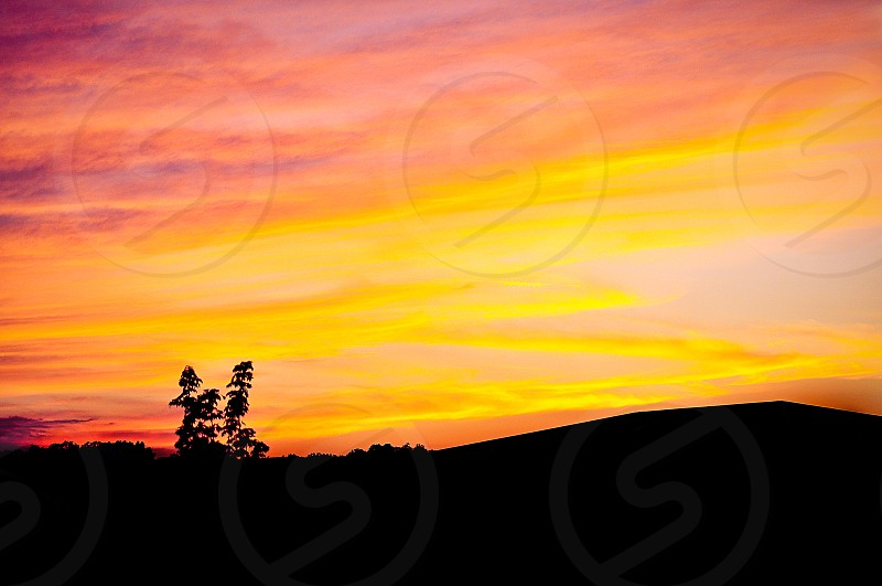 ARTISTIC SKIES | An evening image captured quickly before the sun went completely down.  photo