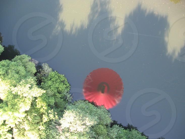red hot air balloon photo