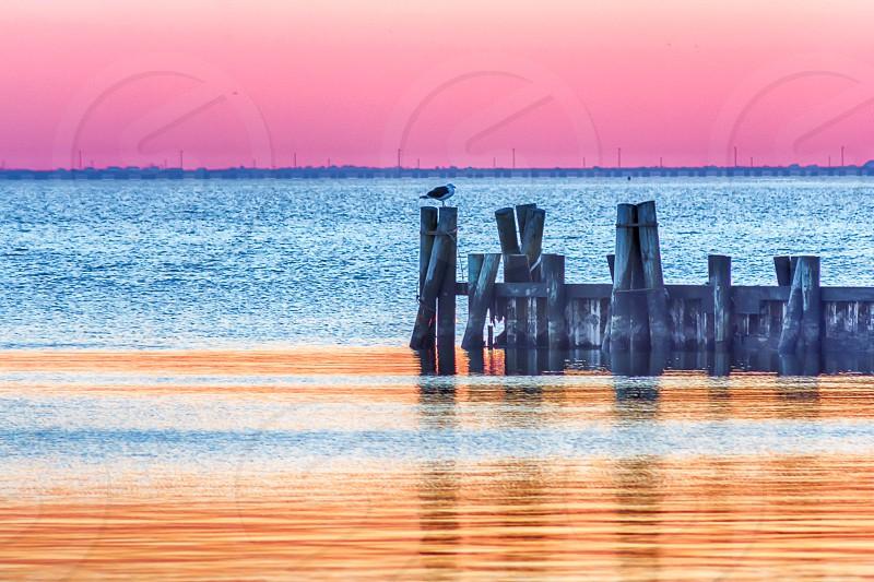 Sunset at Islip Town Beach photo