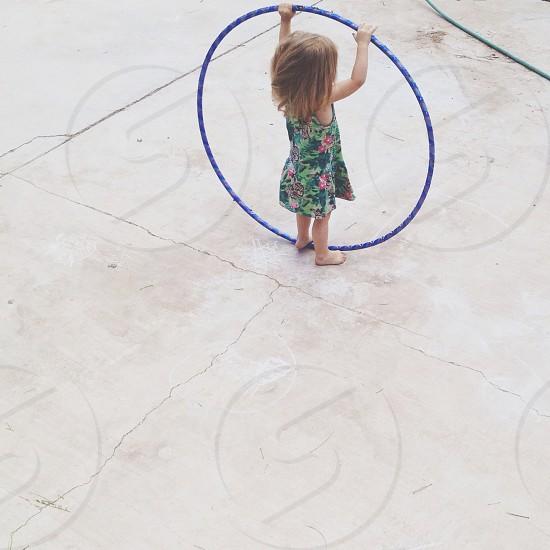 blue hula hoop photo