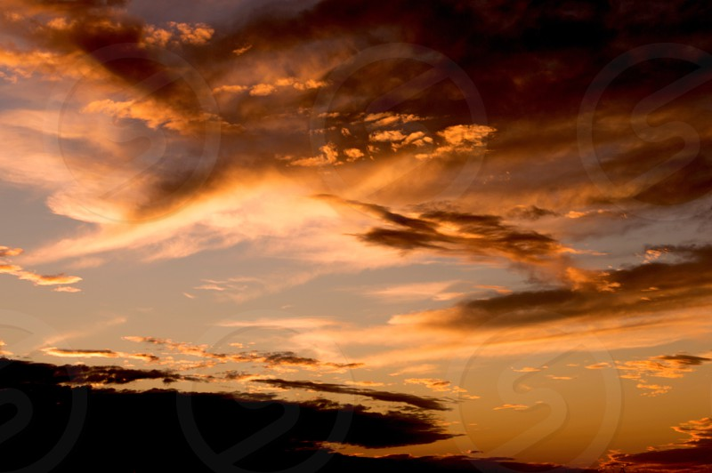 Sunset cloudscape over Southern California photo