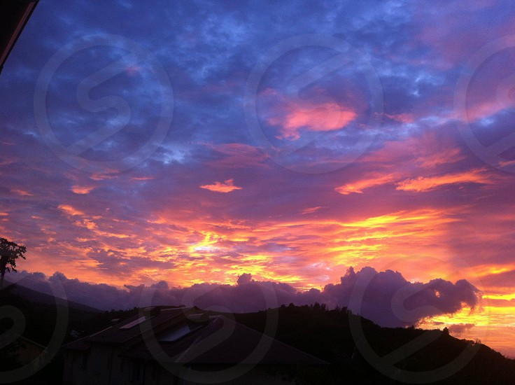 SURISE FROM MY HOM IN REUNION ISLAND photo