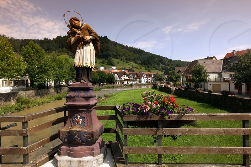 the old town of the villige Wolfach in the Blackforest in the south of Germany in Europe. photo