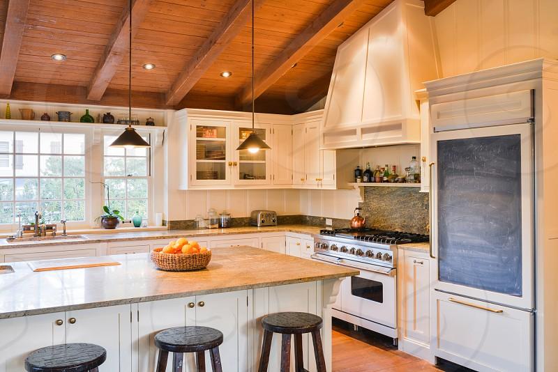 kitchen warm interior home photo