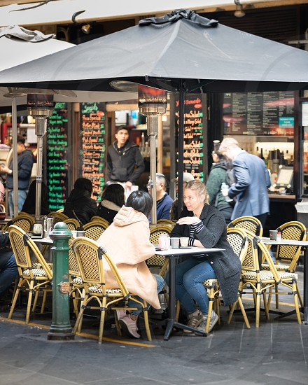 Cafe cafe culture coffee coffee culture street food friends outdoor setting food restaurant Melbourne photo