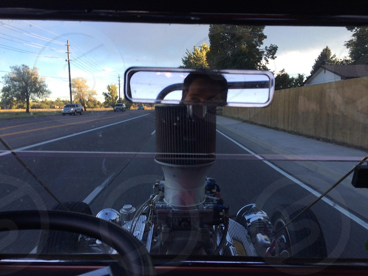 On a super cruise in golden colorado in a hot rod... photo