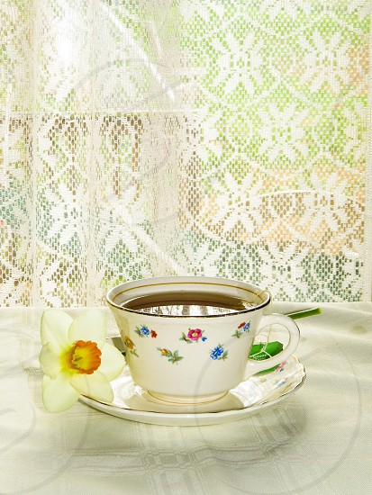 Tea China porcelain cup lace photo
