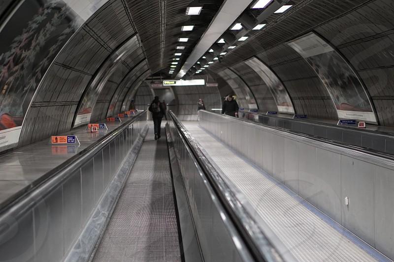 Escalator in Underground Station photo