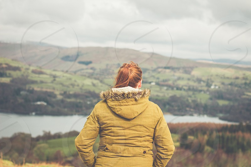 Soaking up the view Lake District view views countryside landscape landscapes  photo