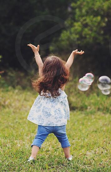 Child free bubbles fun photo