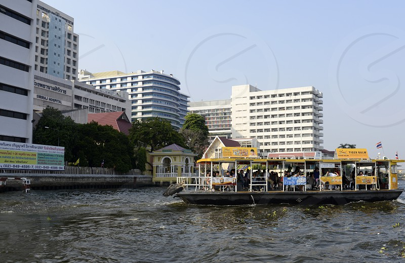 the Sirirat Hospital at the Mae Nam Chao Phraya River in the city of Bangkok in Thailand in Southeastasia. photo
