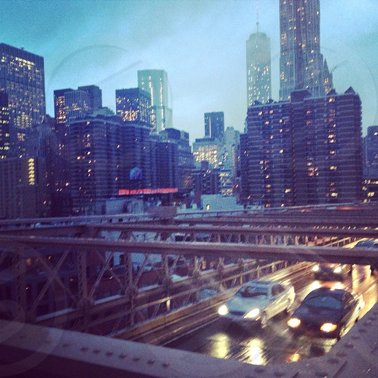 Brooklyn bridge traffic  photo