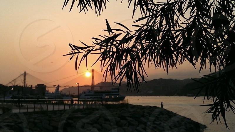 Tsing Yi sunset Hong Kong photo