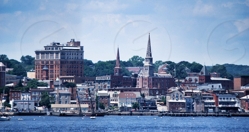 Town of New London from aboard the Cross Sound Ferry. photo