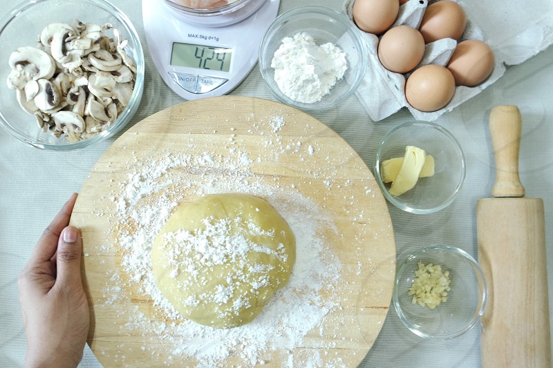 #baking #ingredients #kitchen #table #flour #recipe   photo