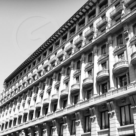 Vía Laietana Barcelona Spain  #building #architecture #bw photo
